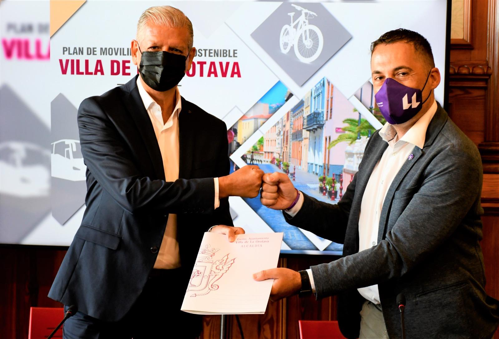 El Ayuntamiento de La Orotava firma convenio con la ULL para la elaboración del Plan de Movilidad Urbana Sostenible