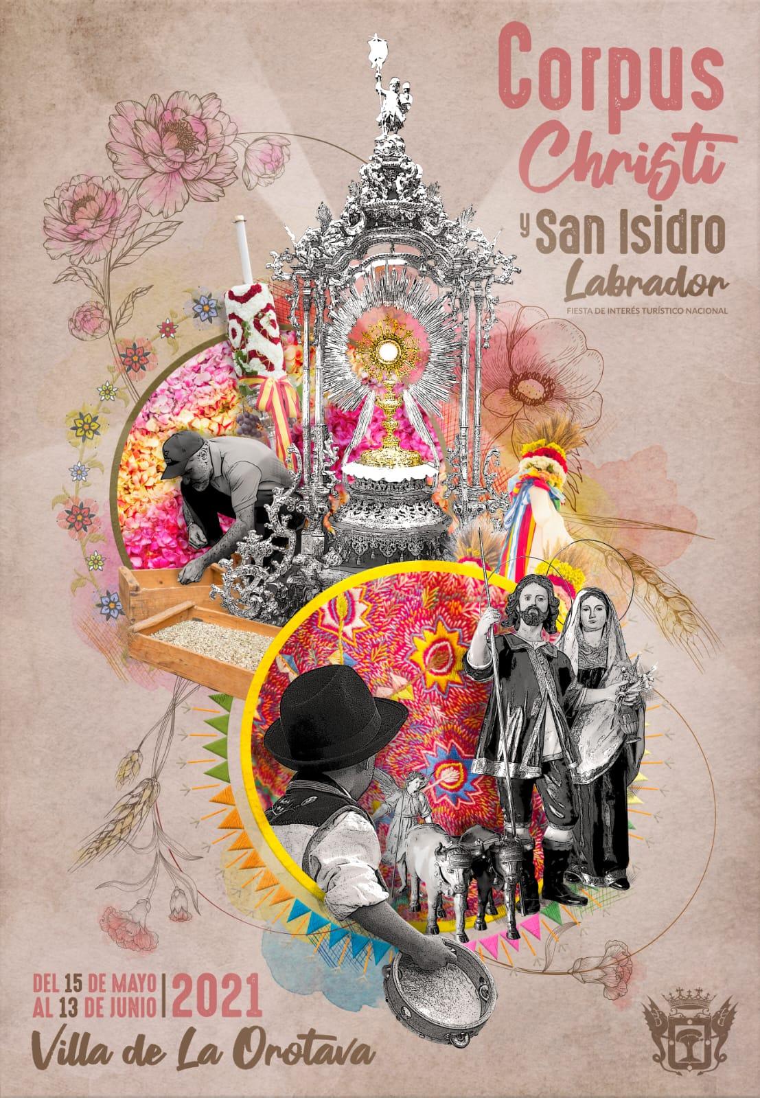 """El autor, Damián Rodríguez, explica que """"elcartel de este año quiere reflejar la esencia de las Fiestas, esa esencia que viene del pasado, permanece en el presente y continúa con la vista en el futuro. Unas Fiestas que siguen vivas y que un año más nos disponemos a celebrar"""""""
