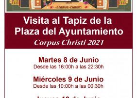 El tapiz podrá ser visitado desde mañana martes, 8 de junio, hasta el jueves 10 de junio